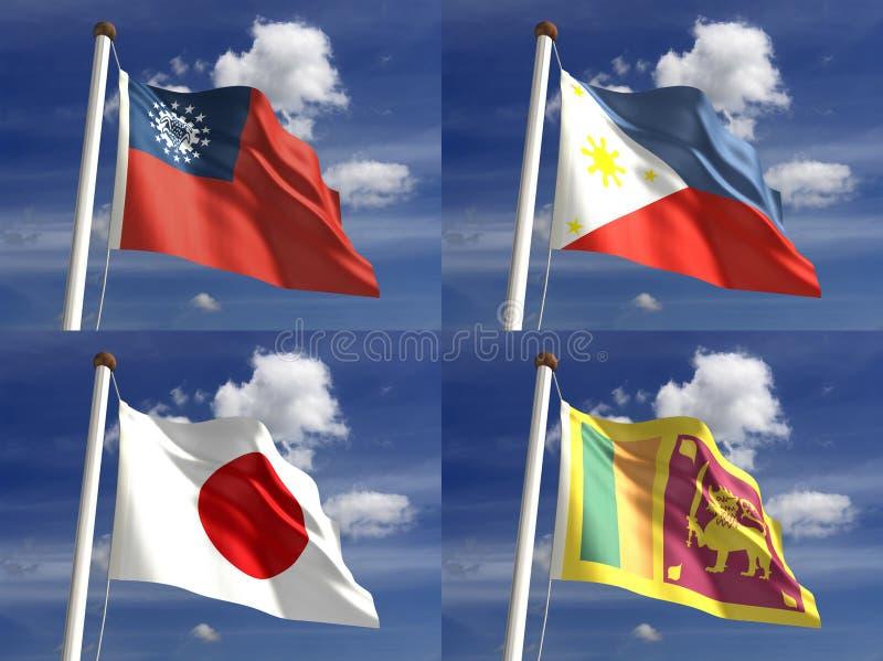 Nationale Vlaggen royalty-vrije illustratie