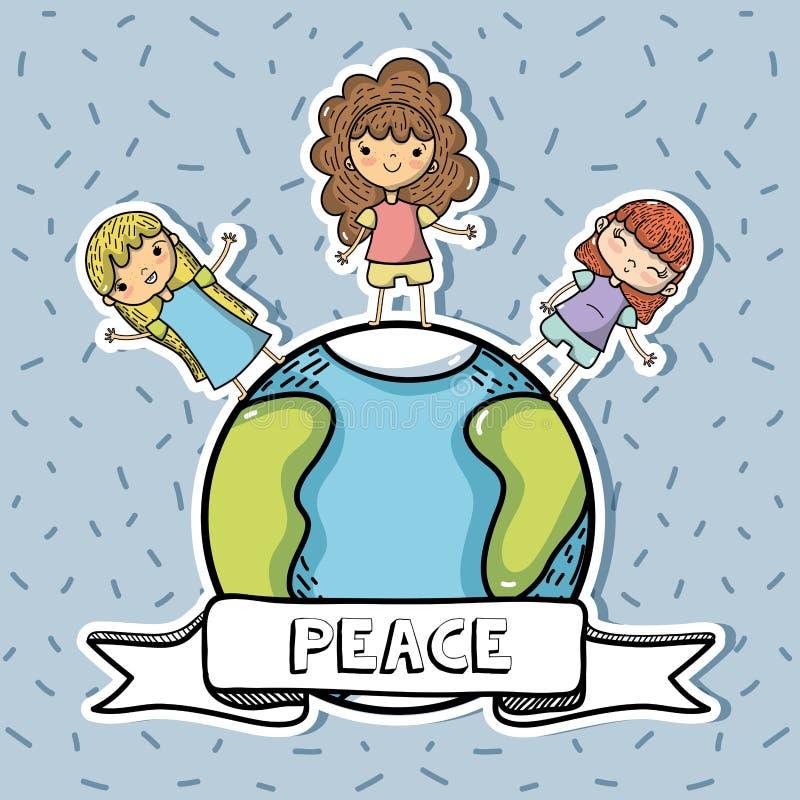 Nationale vrede en liefdedag aan globale harmonie royalty-vrije illustratie