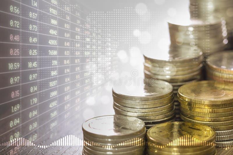 Nationalekonomi och aktiemarknad arkivfoton