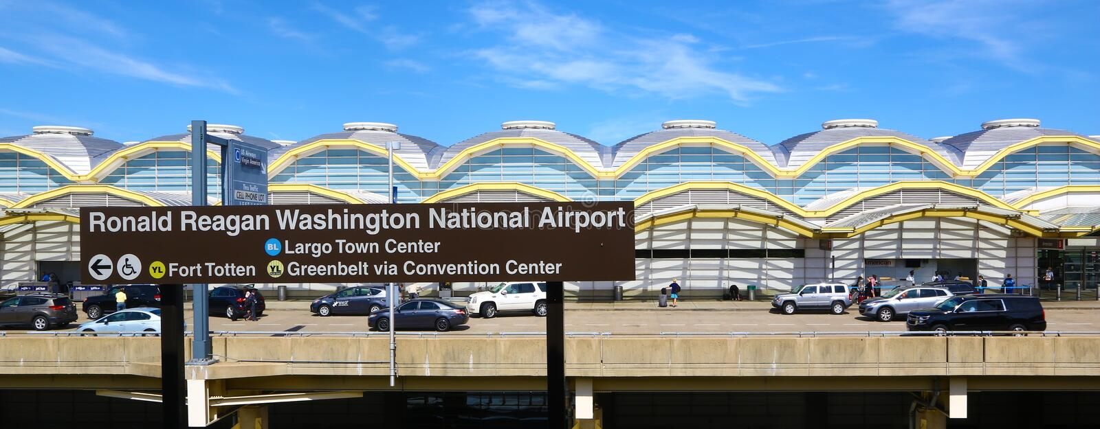 Nationaler Flughafen Ronald- Reaganwashington stockbild
