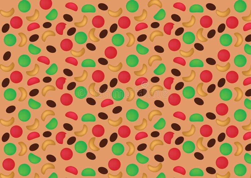 Nationaler Fruchtkuchen-Tag vektor abbildung