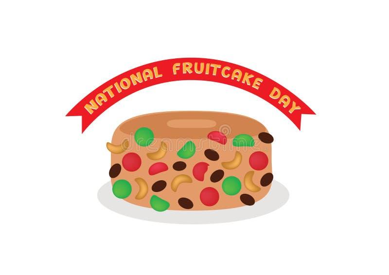 Nationaler Fruchtkuchen-Tag lizenzfreie abbildung