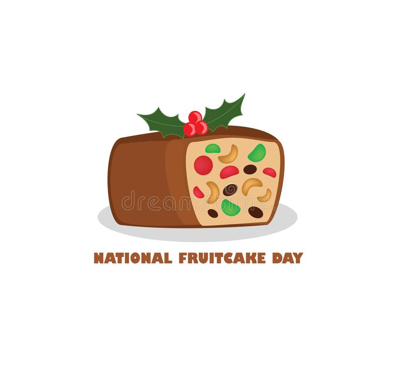Nationaler Fruchtkuchen-Tag stock abbildung