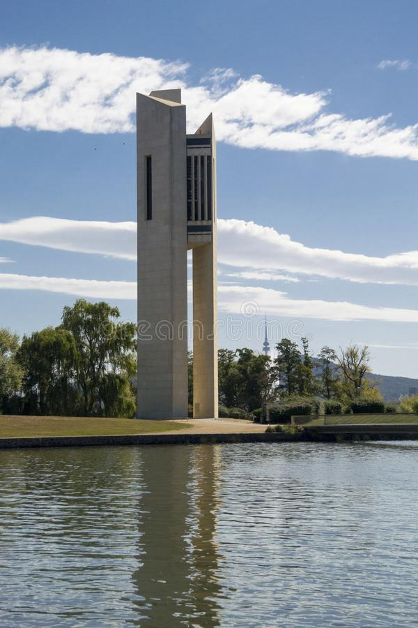 Nationaler Glockenspiel-Glockenturm, Canberra, Australien lizenzfreies stockfoto
