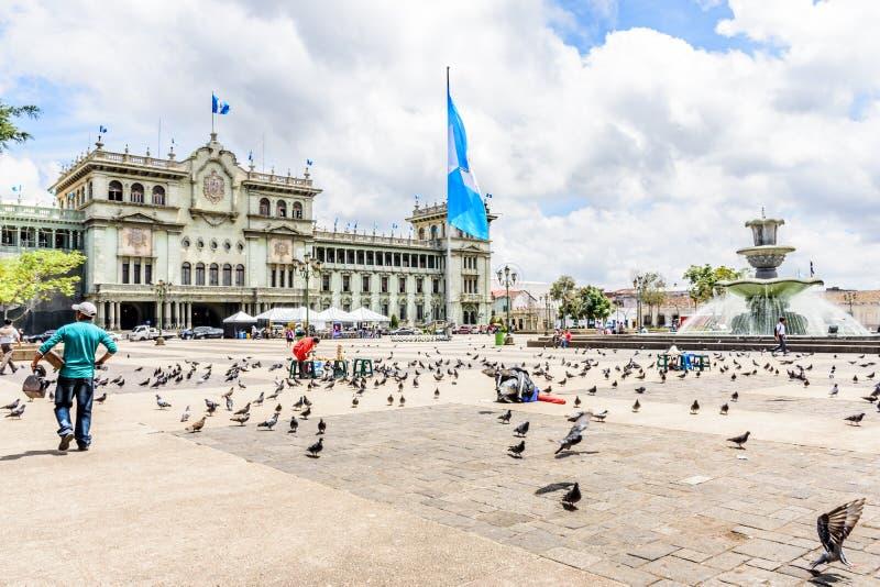 Nationaler Palast der Kultur, Plaza de la Constitucion, Guatemala stockfotos
