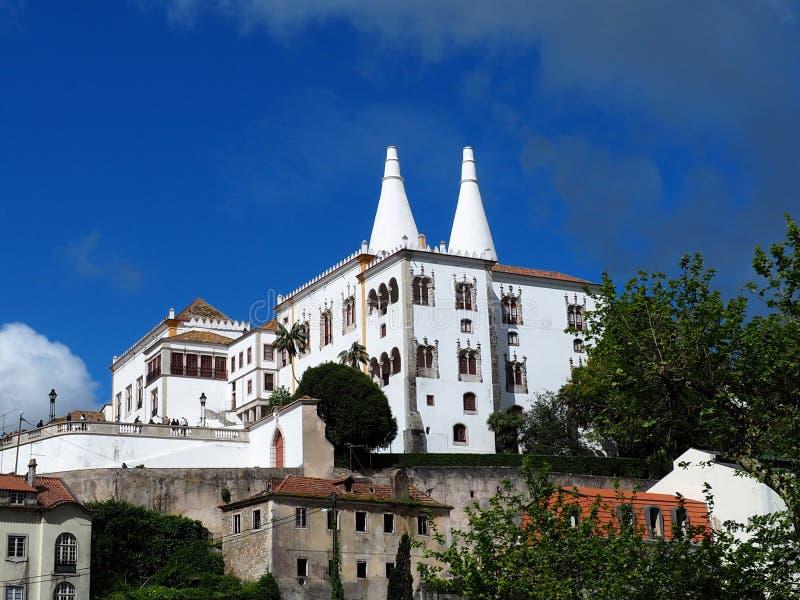 Nationaler Palast in Sintra Portugal stockfotos