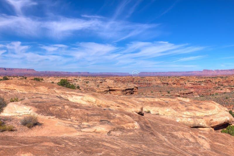 Nationaler Park-Nadel-Bezirk Utahs-Canyonlands stockfotografie