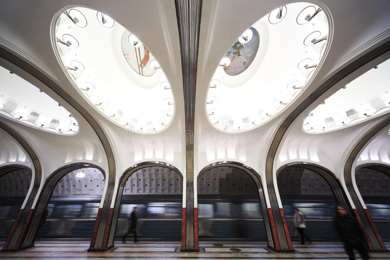 Nationales Architekturdenkmal - Metrostation lizenzfreies stockbild