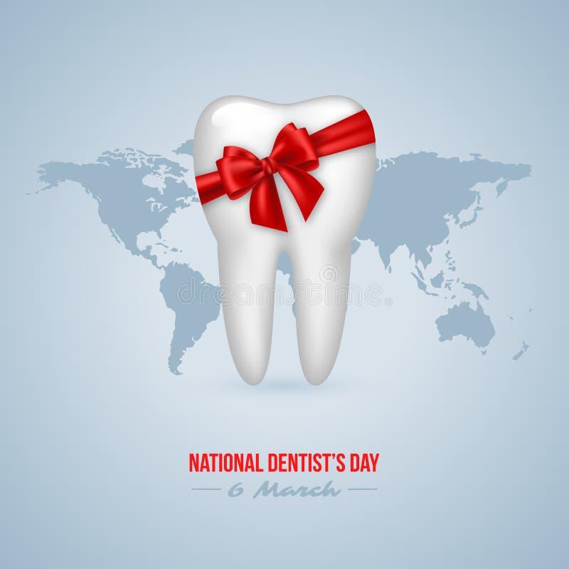 Nationales Dentist& x27; s-Tageshintergrund stock abbildung