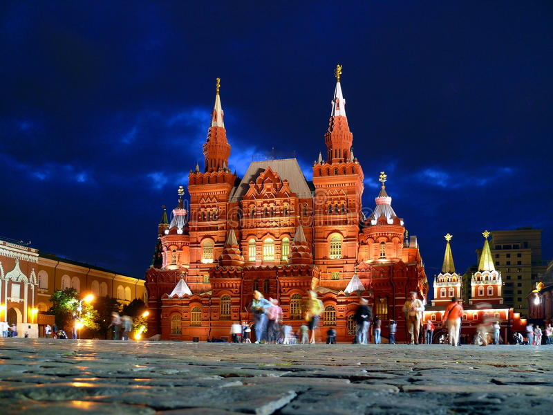 Nationales historisches Museum in Moskau lizenzfreie stockfotos