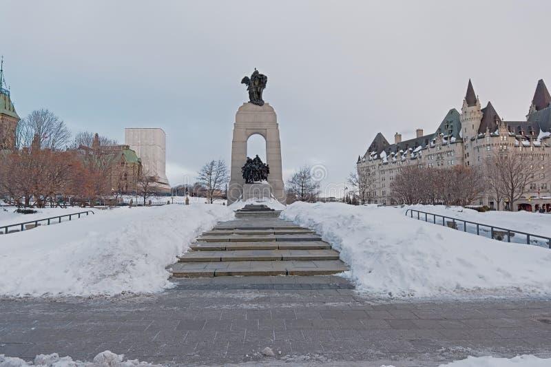 Nationales Kriegsdenkmal, Ottawa, Kanada stockbild