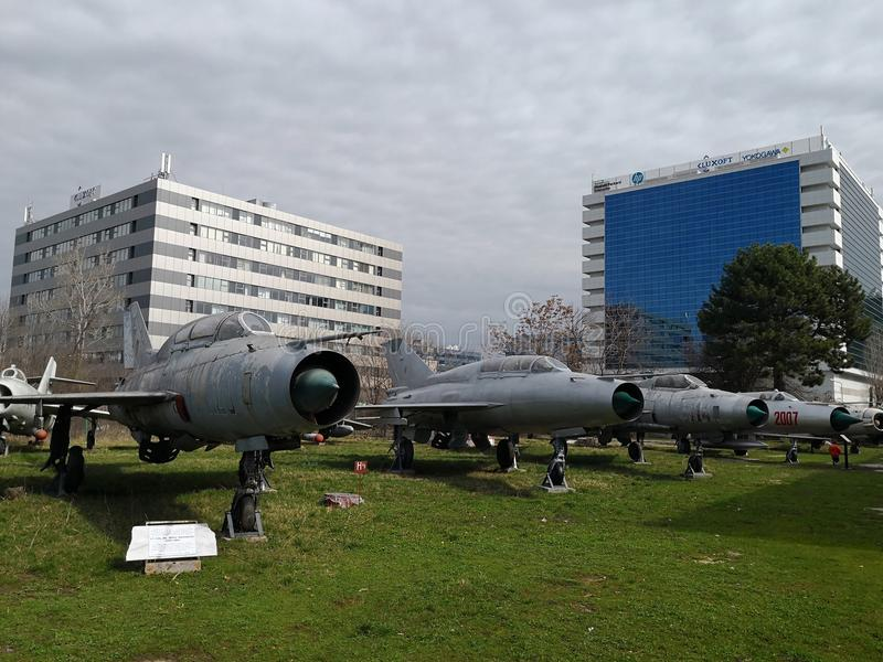 Nationales Luftfahrt-Museum - Flächen stockfoto
