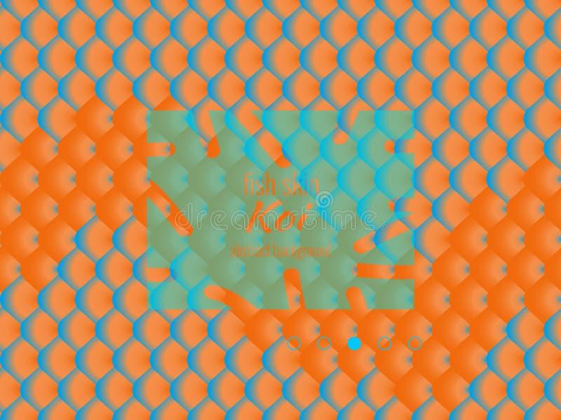 Nationales Muster, bunte Fischhaut von Karpfen koi stock abbildung
