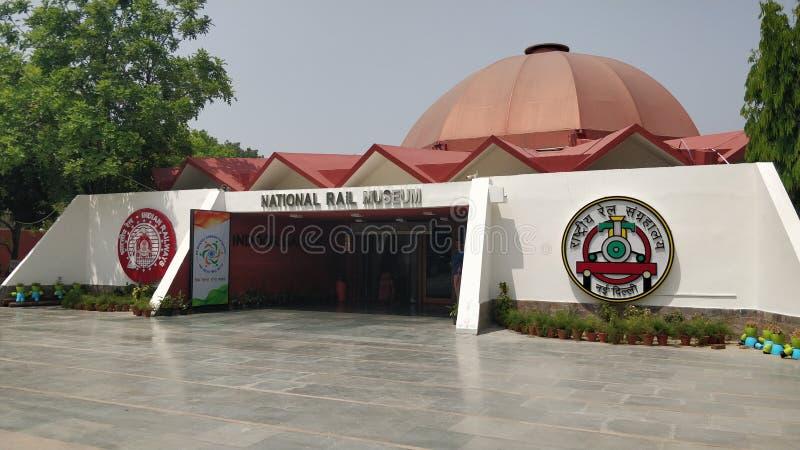 Nationales Schienenmuseum Delhi Indien stockbild