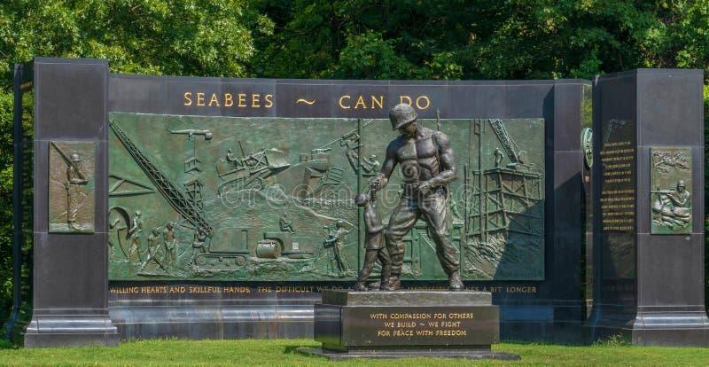 Nationales Seabee-Denkmal, Arlington, Virginia, USA stockfotografie