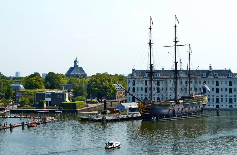 Nationales Seemuseum in Amsterdam stockbilder