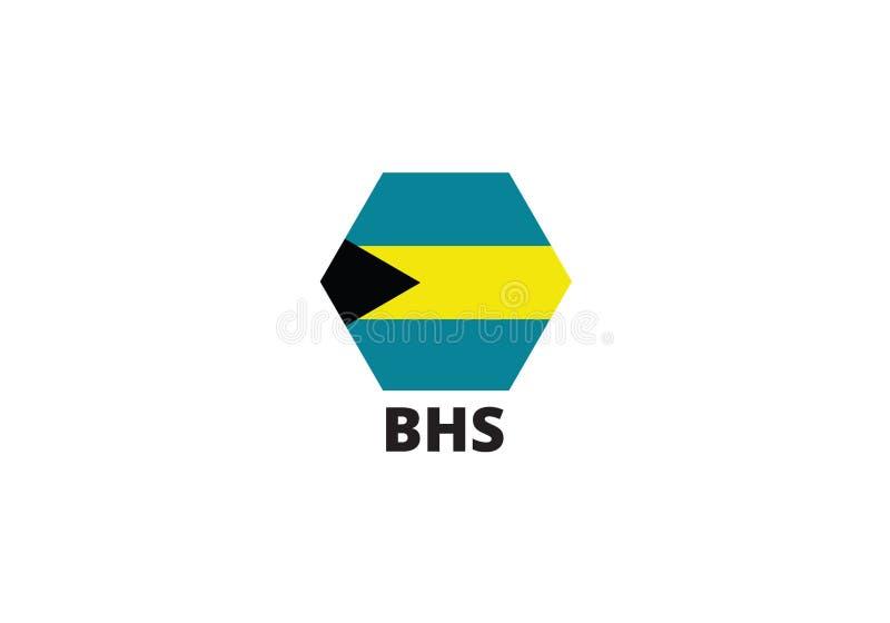 Nationales Sonderzeichen Bahamas stock abbildung