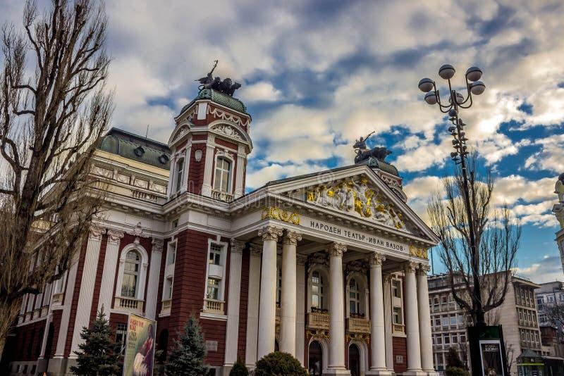 Nationales Theater Ivan Vazov lizenzfreie stockfotografie