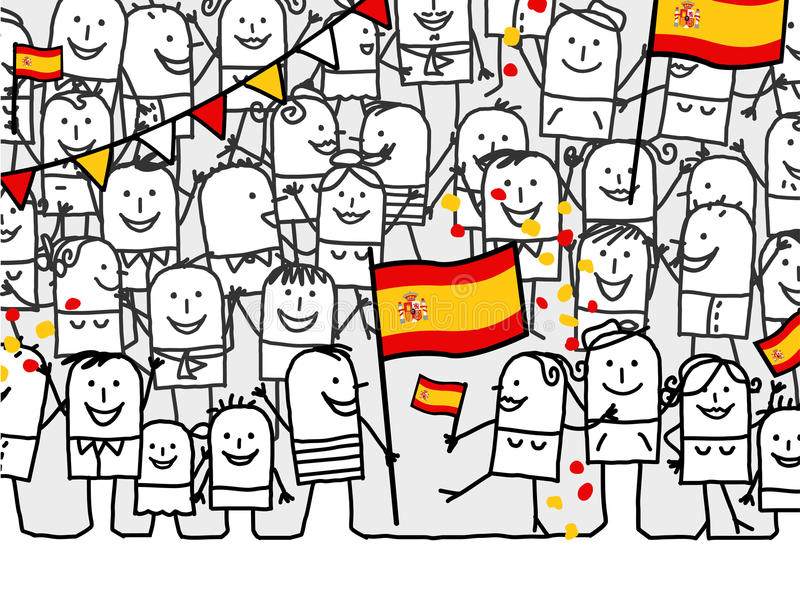 Nationalfeiertag - Spanien stock abbildung