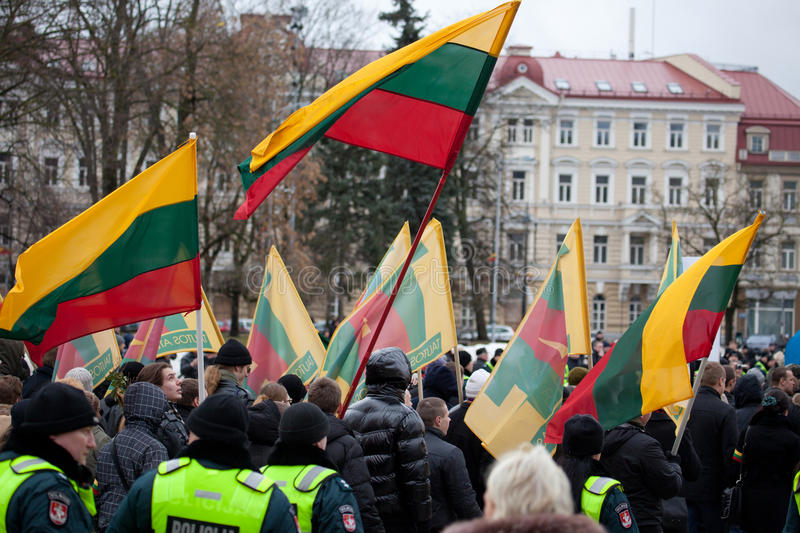 Nationalist rally in Vilnius royalty free stock photo