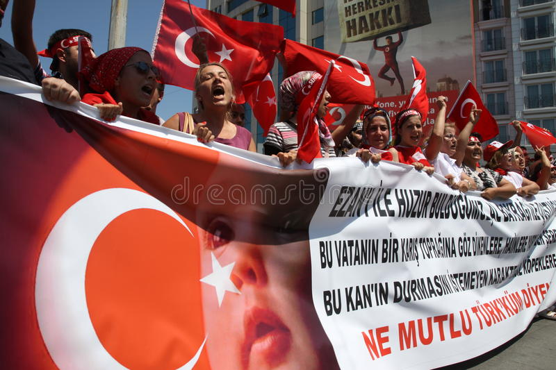 Nationalist Turkish Demonsration royalty free stock photos