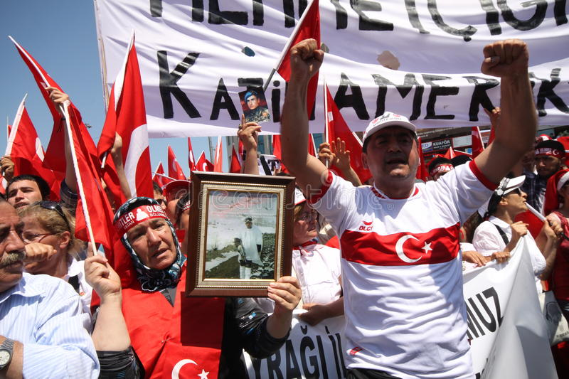 Nationalist Turkish Demonsration stock photo