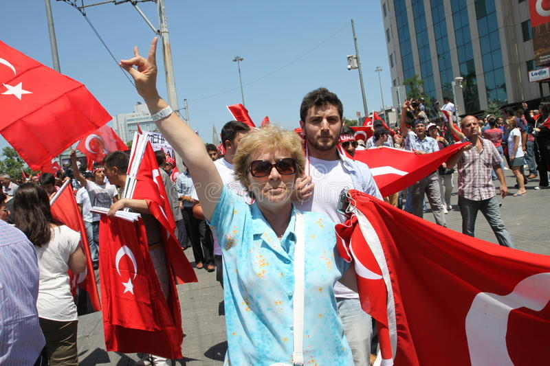 Nationalist Turkish Demonsration royalty free stock images