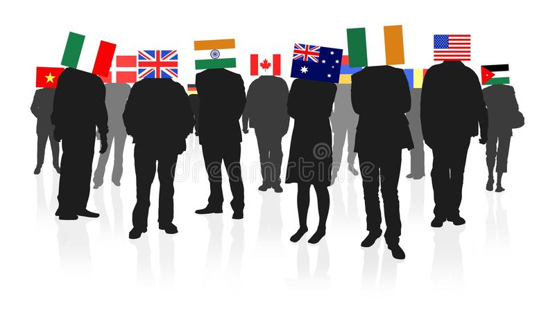 Nationaliteit royalty-vrije illustratie