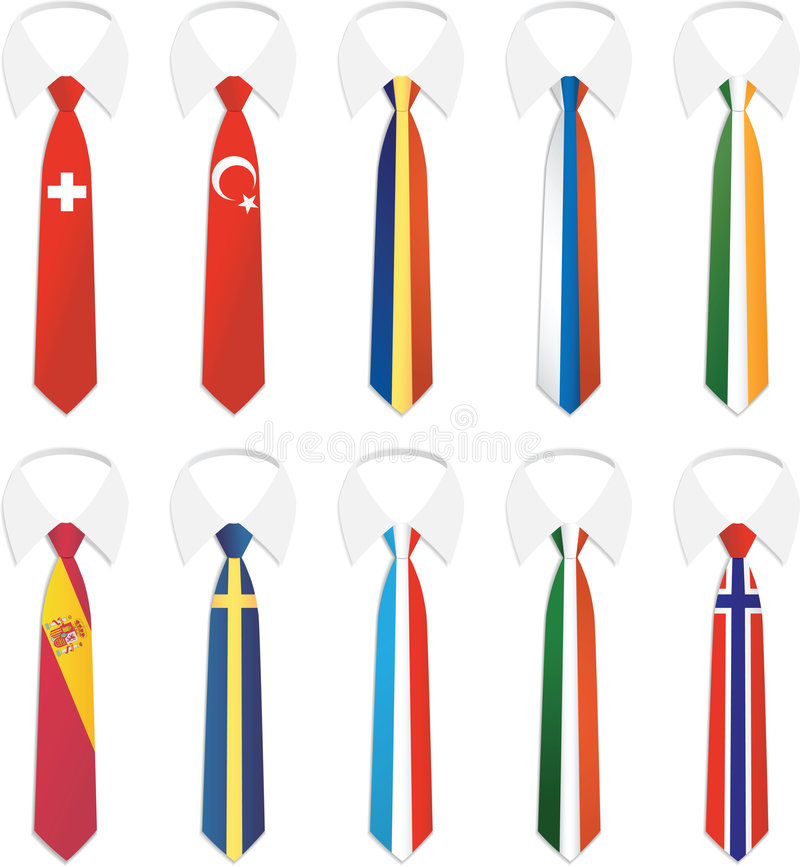 Nationality Tie 2. Illustration Vector of Nationality Tie stock illustration