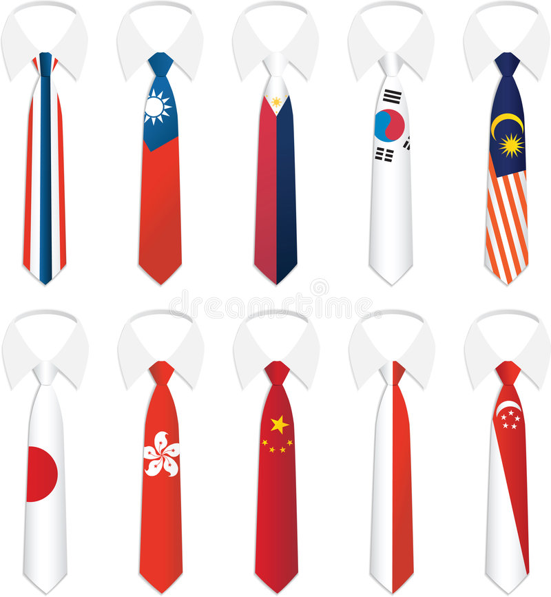 Nationality Tie 3. Illustration vector of Nationality Tie vector illustration