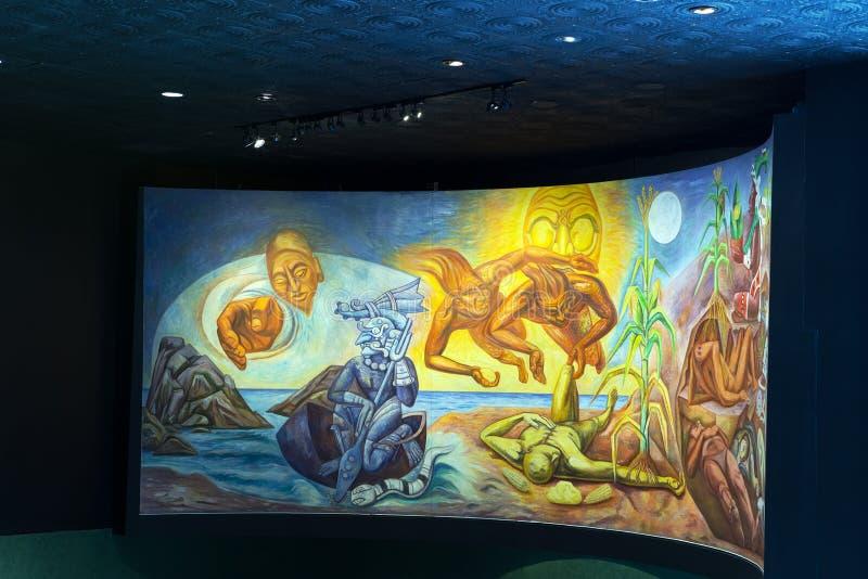 Nationalmuseum von Anthropologie, Mexiko City lizenzfreies stockbild