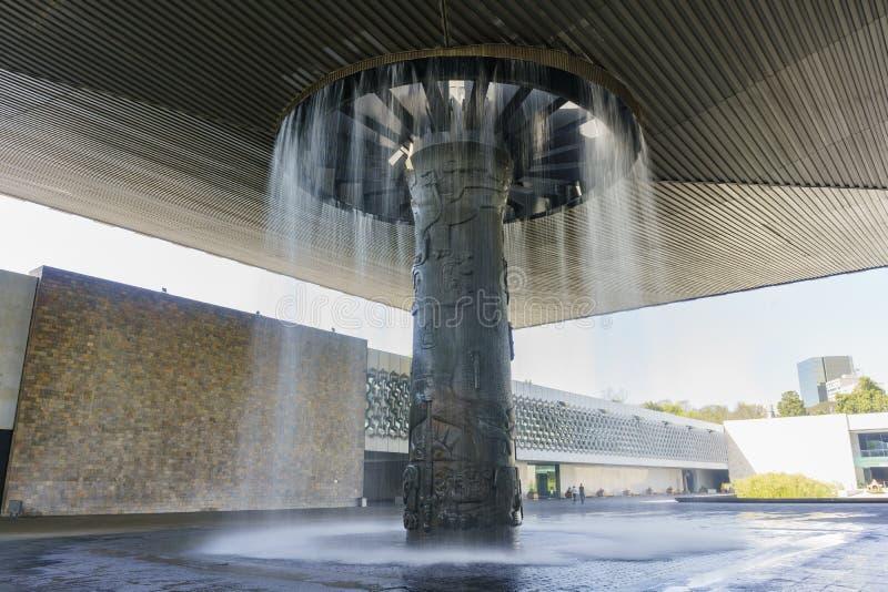 Nationalmuseum von Anthropologie (Museo Nacional de Antropologia, stockfotografie