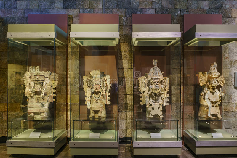 Nationalmuseum von Anthropologie (Museo Nacional de Antropologia, stockfotos