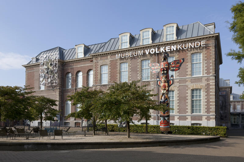 Nationalmuseum von Ethnologie in Leiden lizenzfreie stockfotos