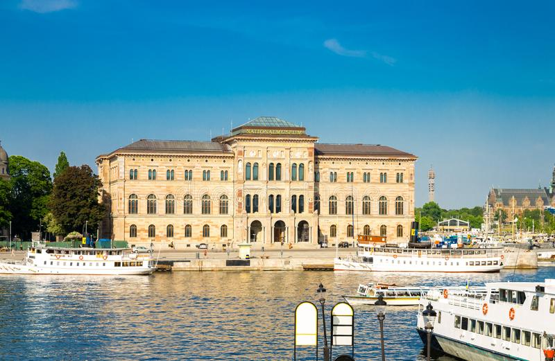 Nationalmuseum von schönen Künsten nahe See Malaren, Stockholm, Schwede lizenzfreies stockfoto