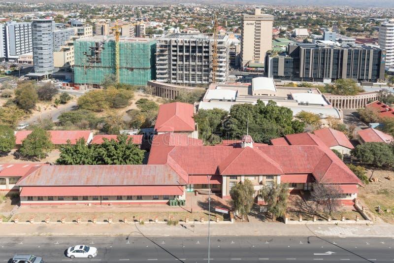 Nationalmuseum in Windhoek, vorher Emma Hoogenhout Prim lizenzfreie stockfotos