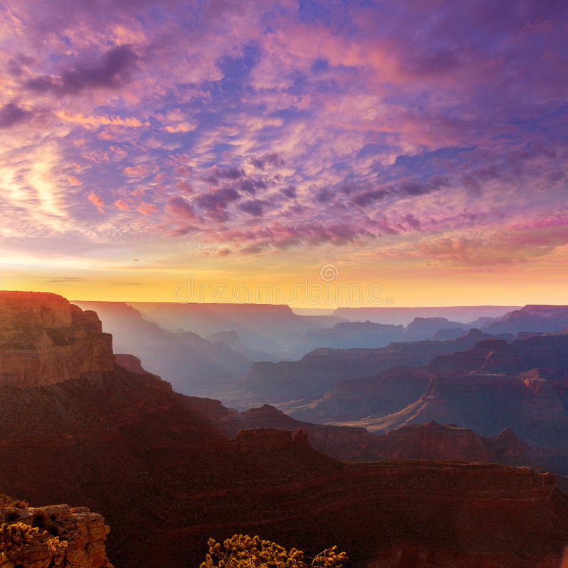 Nationalpark Arizona-Sonnenuntergang Grand Canyon s Yavapai-Punkt lizenzfreie stockfotografie