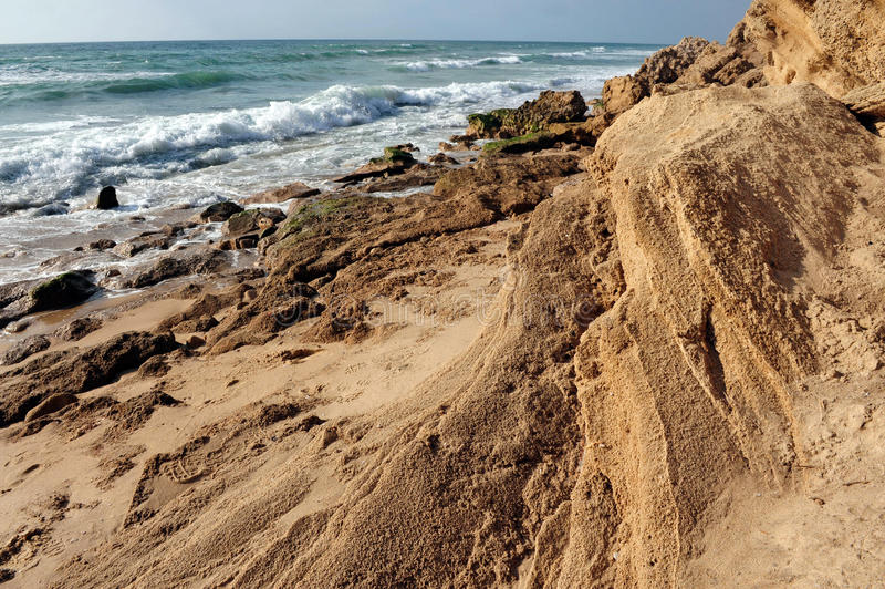Nationalpark Ashkelon stockbilder