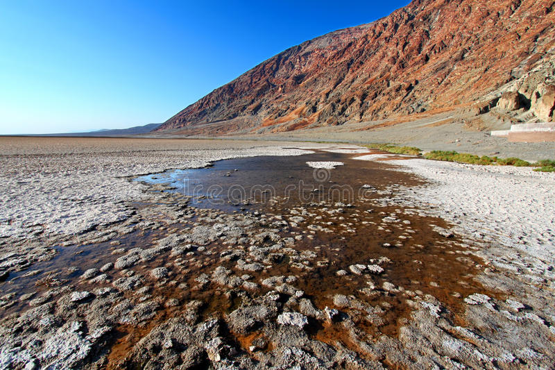 Nationalpark Badwater-Becken-Death Valley lizenzfreies stockbild
