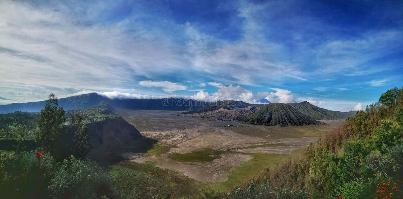 Nationalpark Bromo stockbild