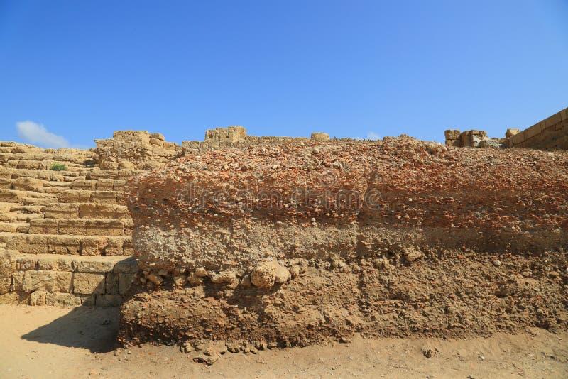 Nationalpark Caesareas stockbilder