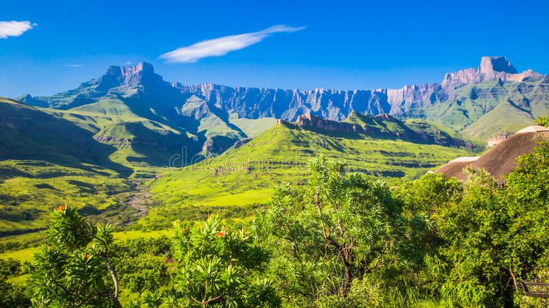Nationalpark der Drachenberge lizenzfreies stockfoto