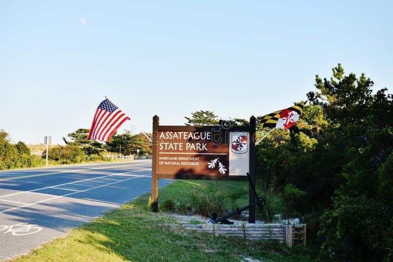 Nationalpark för ö för assateague för Maryland tillståndsUSA arkivbilder