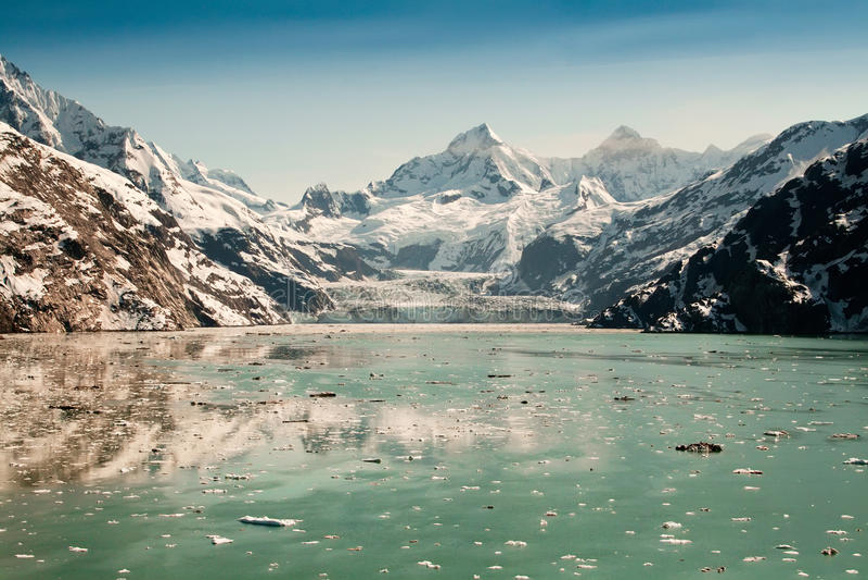 nationalpark för alaska fjärdglaciär royaltyfria bilder