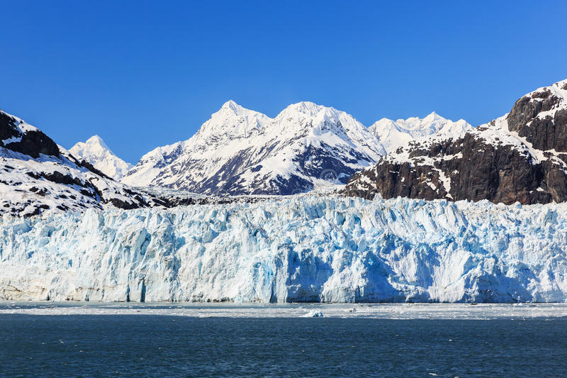 nationalpark för alaska fjärdglaciär arkivbilder