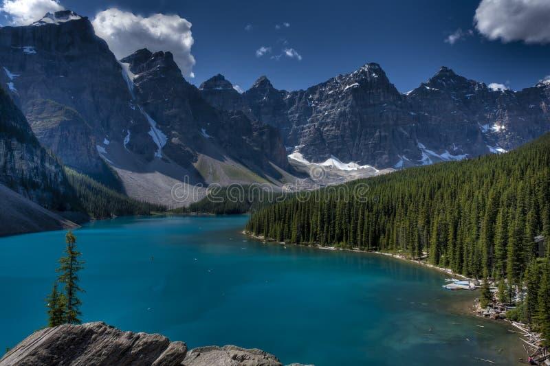 nationalpark för banff Kanada lakemoraine royaltyfria bilder