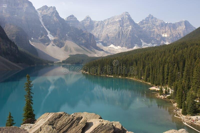 nationalpark för banff Kanada lakemoraine royaltyfria foton