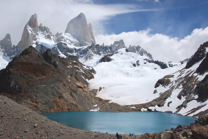 Nationalpark för Los Glaciares, sikt av monteringen Fitz Roy, sydlig Patagonia, Argentina arkivbild