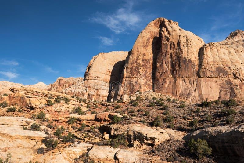 Nationalpark för Navajokupolhuvudrev, Utah arkivfoton