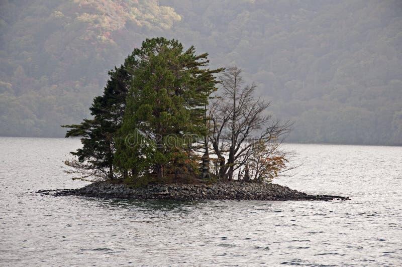 Nationalpark för sjöChuzenji ö, Nikko, Japan royaltyfri foto